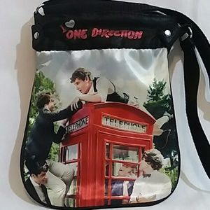 I ♡ One Direction 1D Satin Crossbody Bag Purse